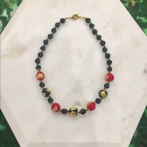 Jewelry - Italian Vintage Black Onyx Beaded Necklace